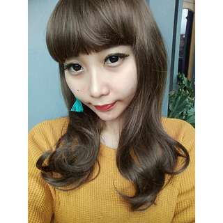 Pinkcoco wig warna coffee brown