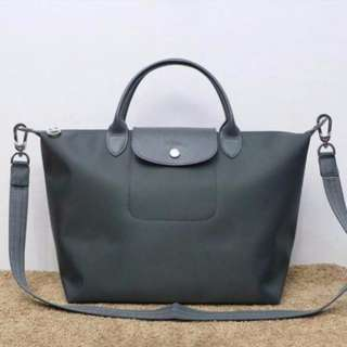 Longchamp Neo Medium Graphite Grey Bag (New, Genuine and Ready for Shipping)