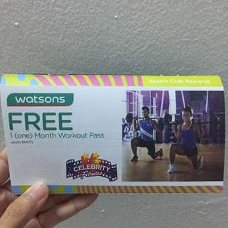 1 Month Celebrity Fitness Workout Pass