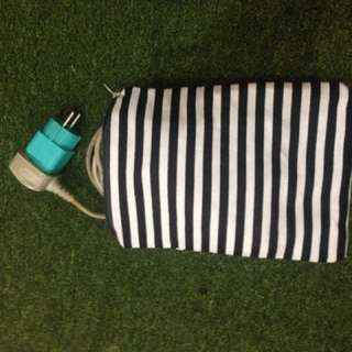 Pouch - Stripes Black And White