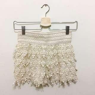 Lace Elastic Shorts