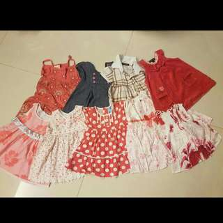 Set Of Girl Toddler Dresses: Brands from Baby Poney, Mini Princess, Pumpkin Patch, etc.
