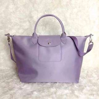 Longchamp Neo Medium Lilac Bag (New, Genuine and Available for shipping)