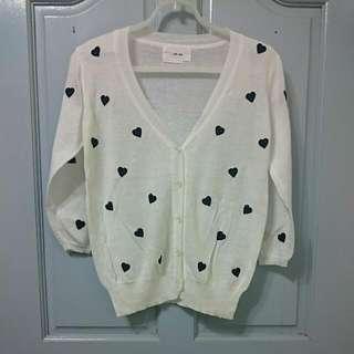 白色針織小外套