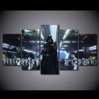 Framed Printed HD Star Wars Darth Vader Army Canvas Print Poster for Room Decoration Artwork