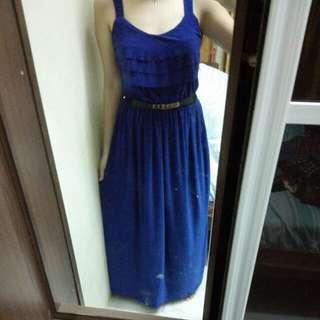 Blue Long Maxi Dinner Dress Gown