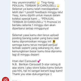 THANK YOU CARAOSELL 💞I'm completely honoured ☺️
