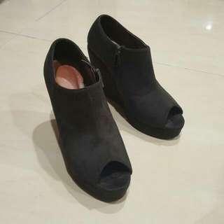 Vincci Wedges Peep Toe Ankle Boots (Ori) Dupe nya Jeffrey Campbell
