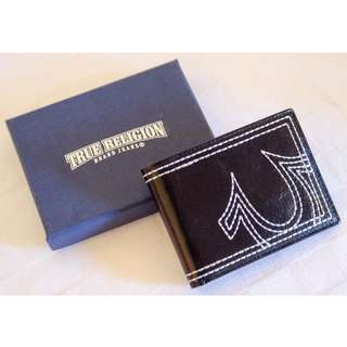 True Religion Wallet Men's Leather Embroidered Horseshoe