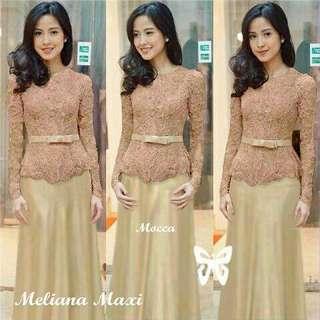 Pakaian Muslim Maxi Meliana Coklat | Maxi Murah Supplier Baju Muslim