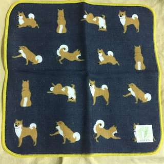 日本帶回 柴犬手帕