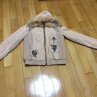 真兔毛外套