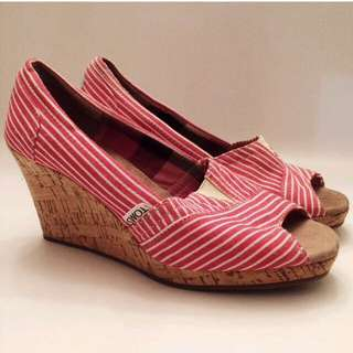 Toms Striped Wedged