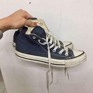 🚚 二手/converse高筒帆布鞋 深藍色 #五百元好女鞋