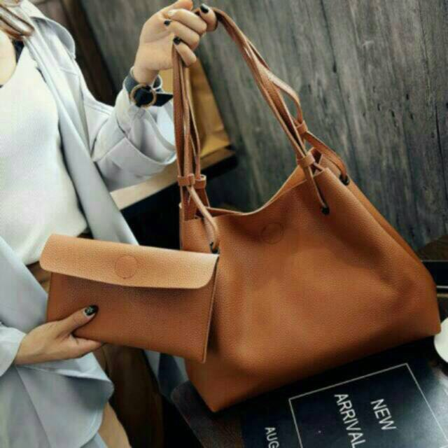 2 in 1 Korean Bag (brown)