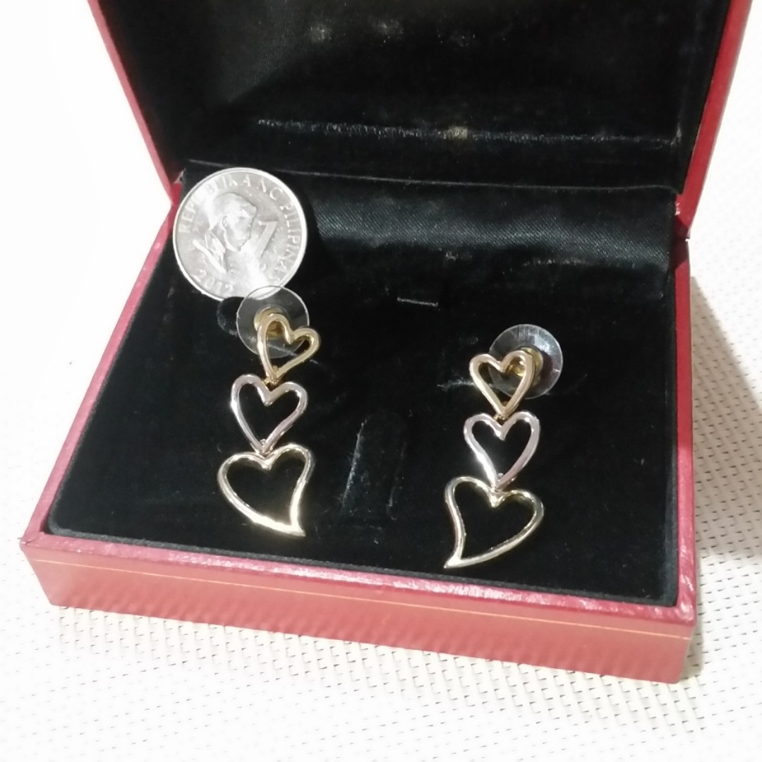 3 layer Heart Charm High Quality Earrings