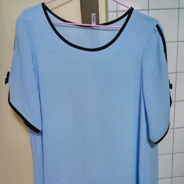 藍雪紡上衣