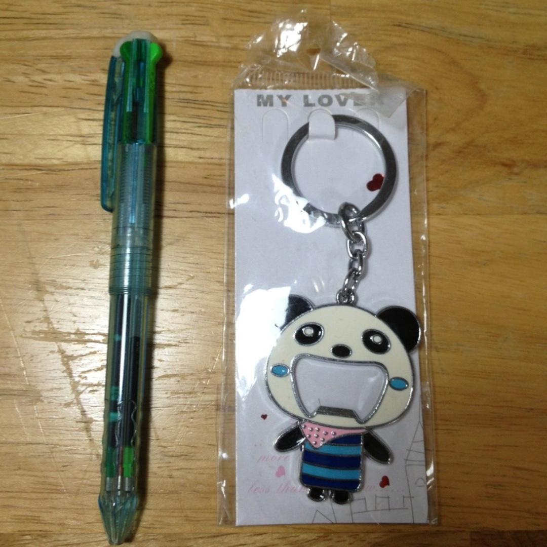 熊貓鑰匙圈+可能有開瓶器功能