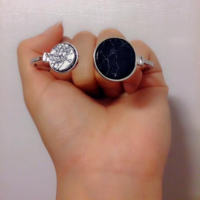 !不對稱大理石花紋手環