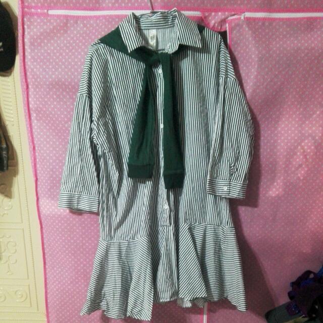襯衫魚尾洋裝