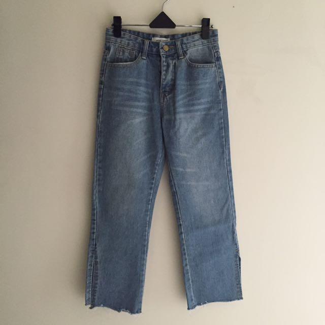 全新轉賣 正韓小直筒牛仔褲