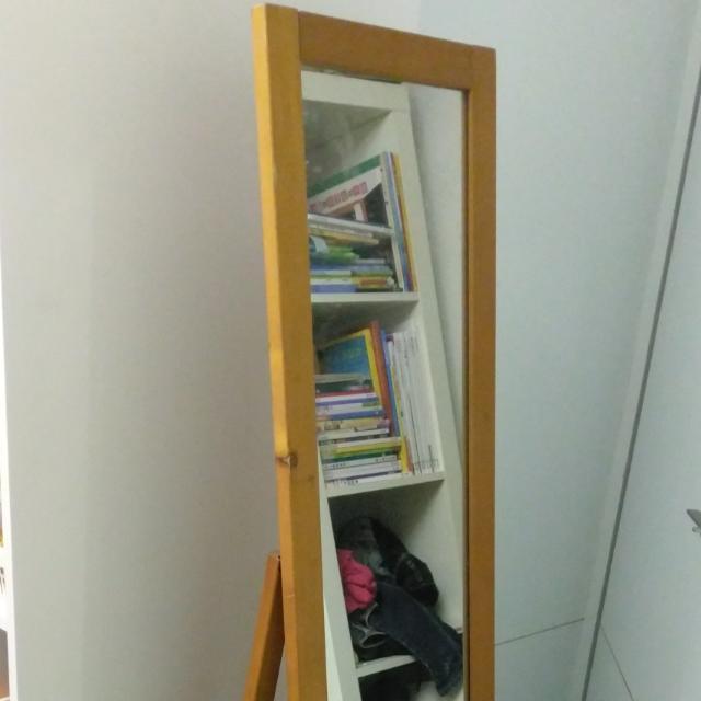 原木 穿衣鏡 立鏡 連身鏡 全身鏡 整容鏡