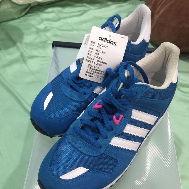 Adidas 慢跑運動休閒鞋-藍