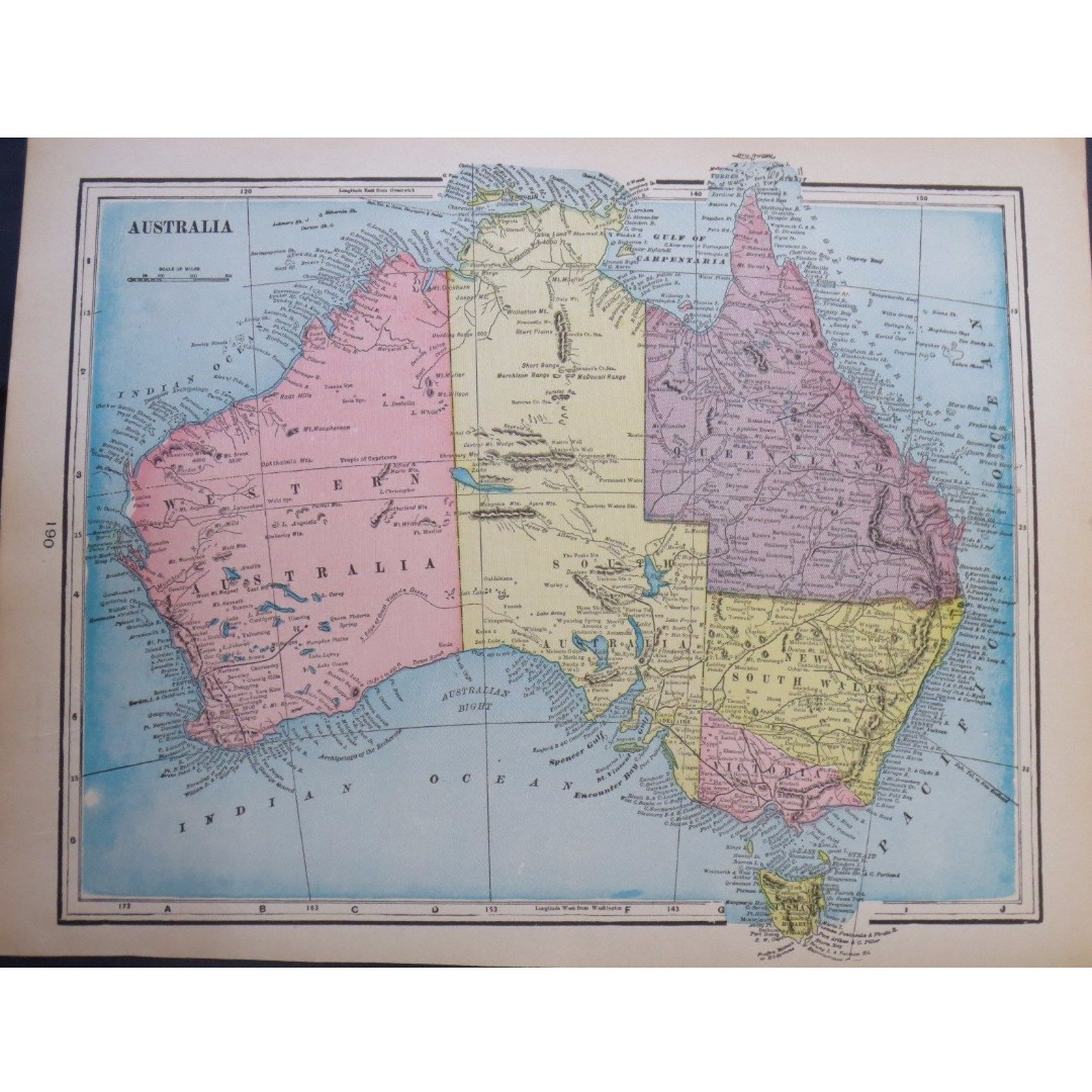 Antique - Australia - 1903 - Map