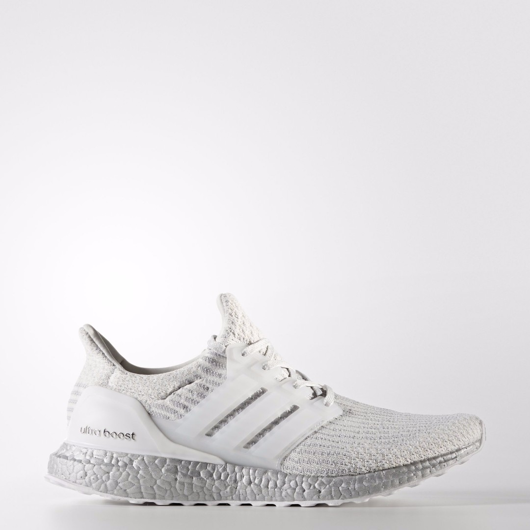 Authentic Adidas Ultra Boost 3.0 White Silver Boost