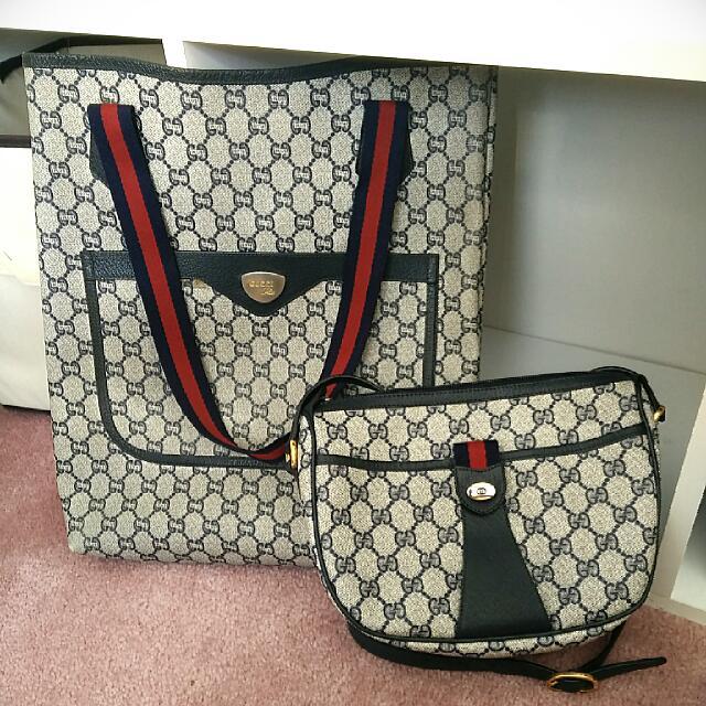 Authentic Vintage Gucci Crossbody & Gucci PLUS Tote