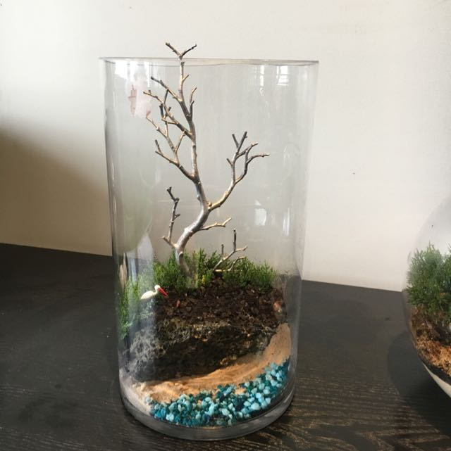 Beautifully Crafted TREE On A Cliff In A Glass Jar
