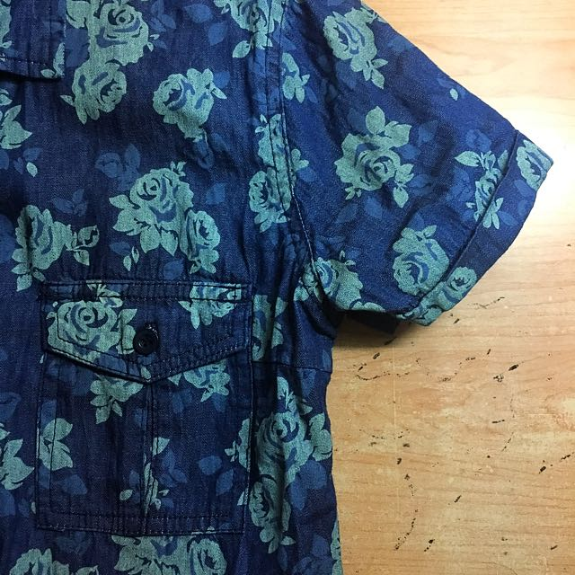 BENCH Blue floral denim