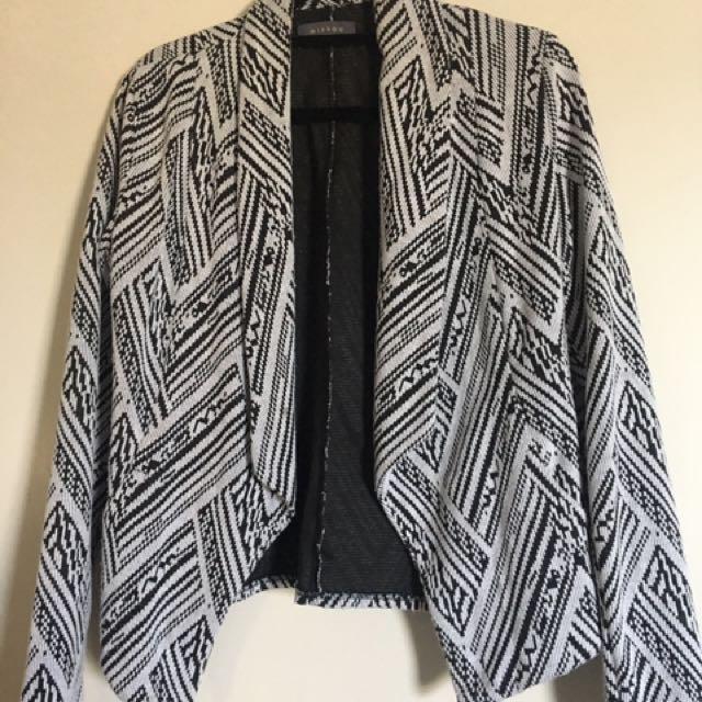 Black & Off White Blazer