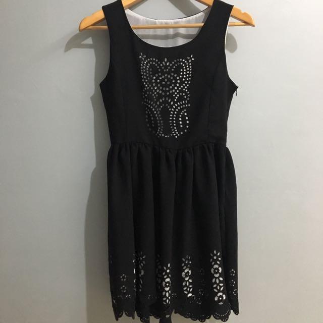 Black Cut-out Dress