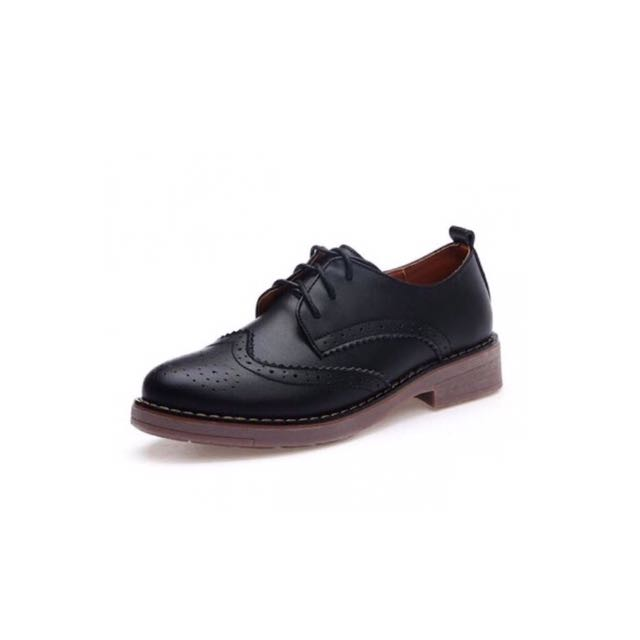 Black Lace Up Oxford Dress Shoe