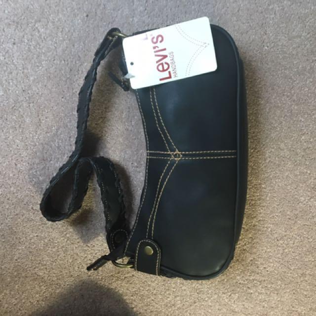 black Levi's leather shoulder bag