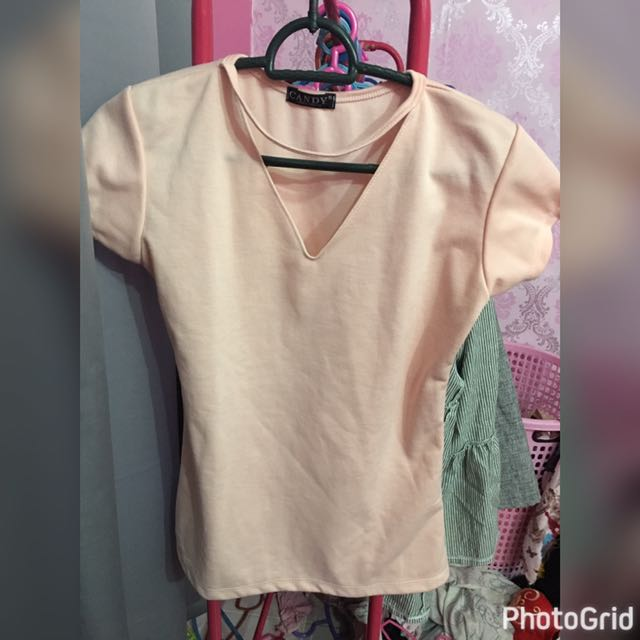 Bodycon top peach/pink