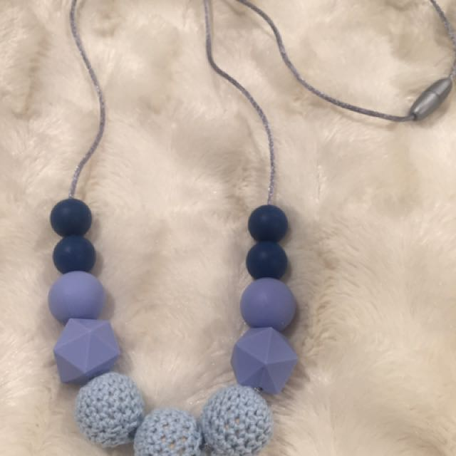 BPA Silicone teething Beaded Necklace