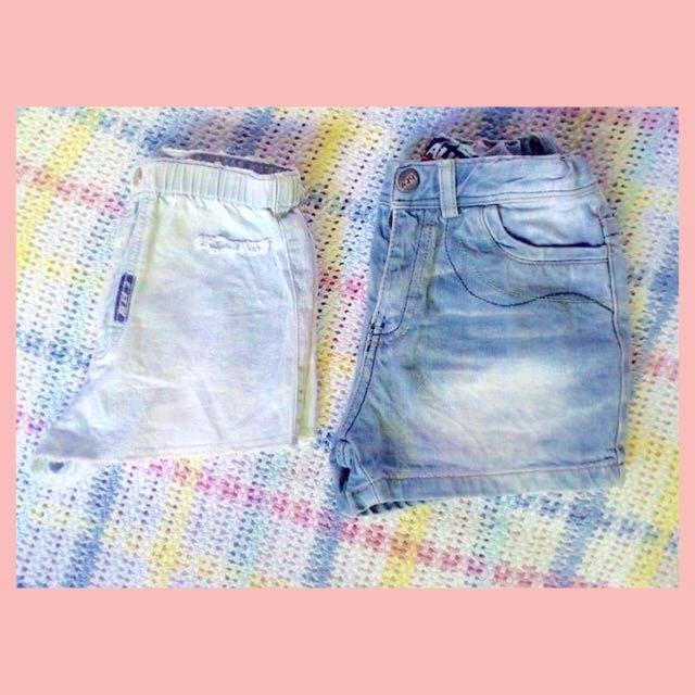 Bundle denim shorts