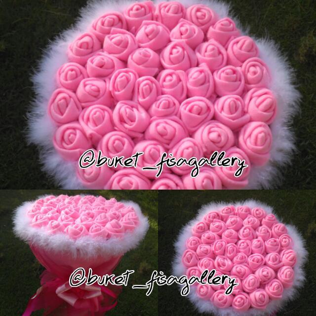 Bunga Flanel Rose Pink