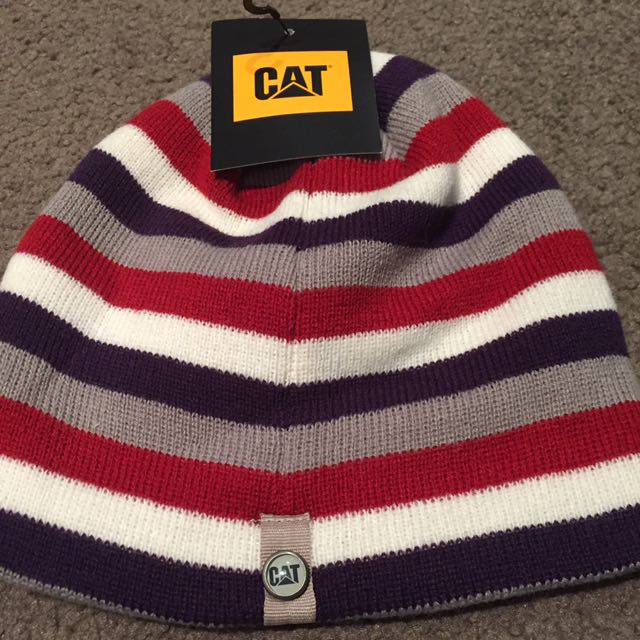 CAT Beanie With Stripes
