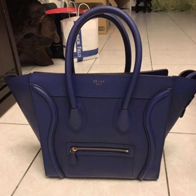 Celine mini luggage 藍色