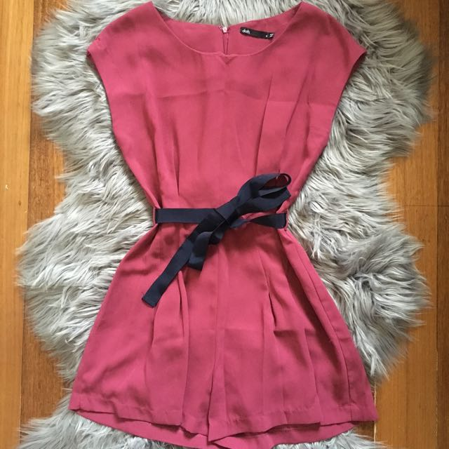 Dotti Playsuit in Berry (8)