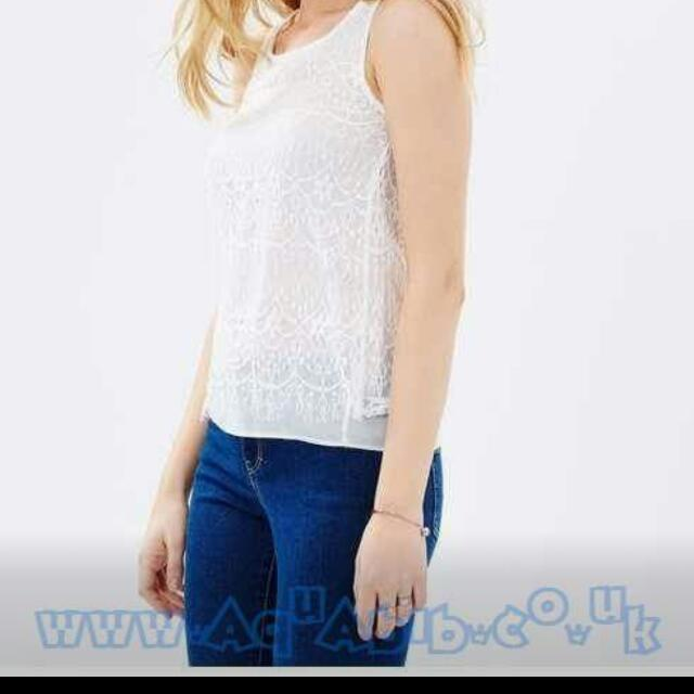 Double lace shell top