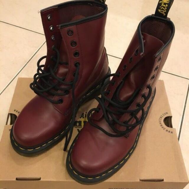 Dr.Martens 鞋 酒紅色