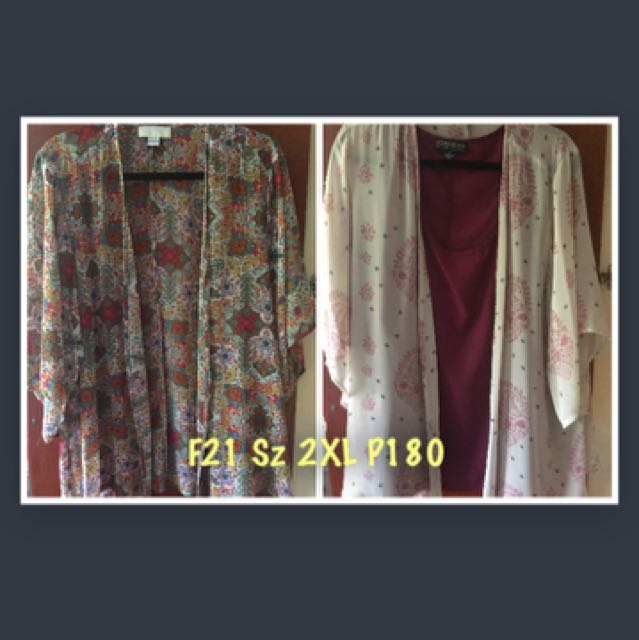 F21 Floral Kimono Tops