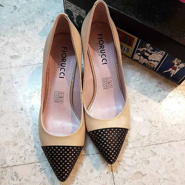 4c9ae7a4285 Fiorucci Taupe Nude Black And Brown Kitten Mid Low Pointy Toe Heels Chanel  Inspired #CNY888