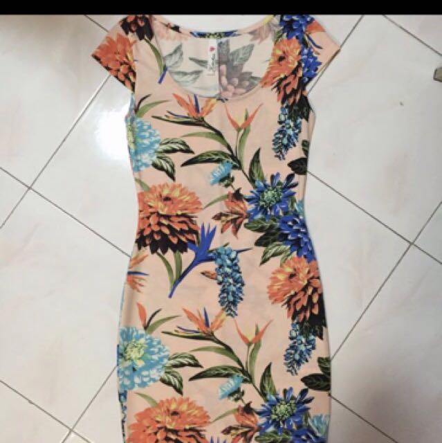 Floral Bodycon Kitschen Dress