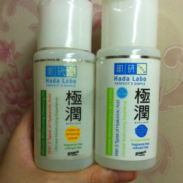 Hada Labo Cleansing Oil and Lotion