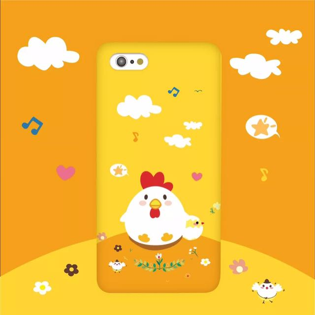 🎈Happy Chick Phone Case (iPhone 5 6 7 Plus Soft Cover Silicon Hard Yellow  Cute Tumblr Animal Dog Cat Grass Greenery Cover)